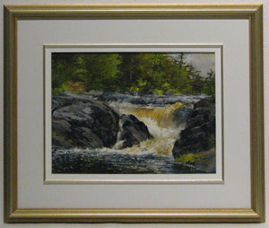 Morning At The Falls Framed, Artist Ray Sanford