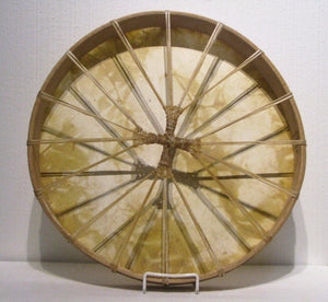 Onion Skin Dyed Drum back, artist Michelle Tweed