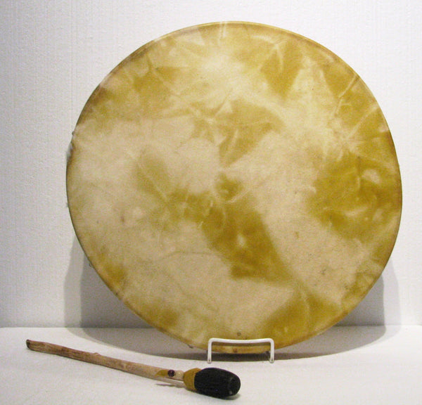 Onion Skins Dyed Drum, artist Michelle Tweed