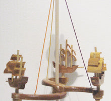 Load image into Gallery viewer, Ship Carousel Toy Close Up, Artist Charles Hayward