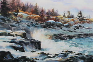 Winter At Point Prim, artist Poppy Balser, Digby, Nova Scotia
