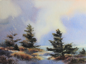 Snow At The Coast, artist Poppy Balser, Digby, Nova Scotia