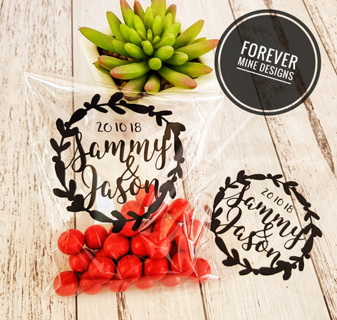 Personalised lolly buffet bags