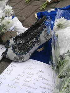 One year on a look back on tributes to Khun Vichai left by Shoesbyhaze Leicester City Customers