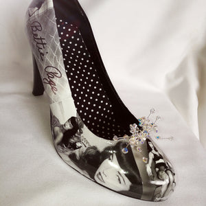 Bettie Page Pinup Girl Custom Heels