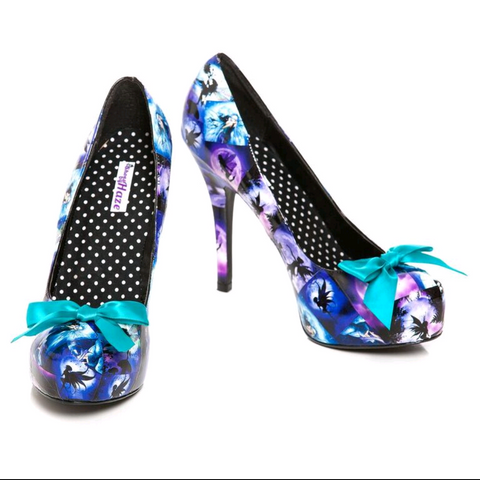 Purple Fairy Print Custom High Heeled Shoes