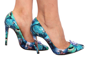 Turquoise Blue Mermaid Custom Shoes