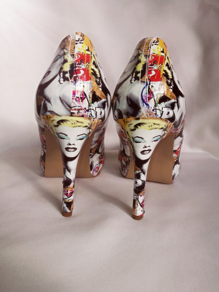 Yellow Marilyn Monroe Pop Art Heels