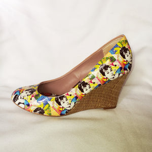 Yellow Audrey Hepburn Wedges