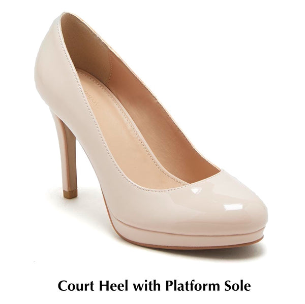 Court Heel With Platform Sole