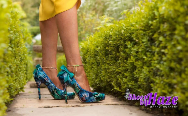 Custom Mermaid Shoes, Turquoise with Sequin Trim