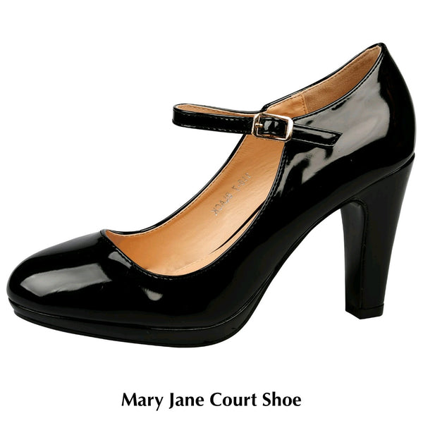 Mary Jane Court Shoes
