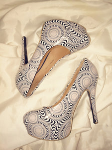 Optical Illusion Op Art Heels