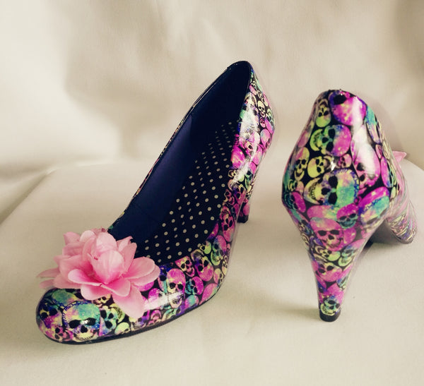 Pastel Pink Skull Summer Wedding Heels