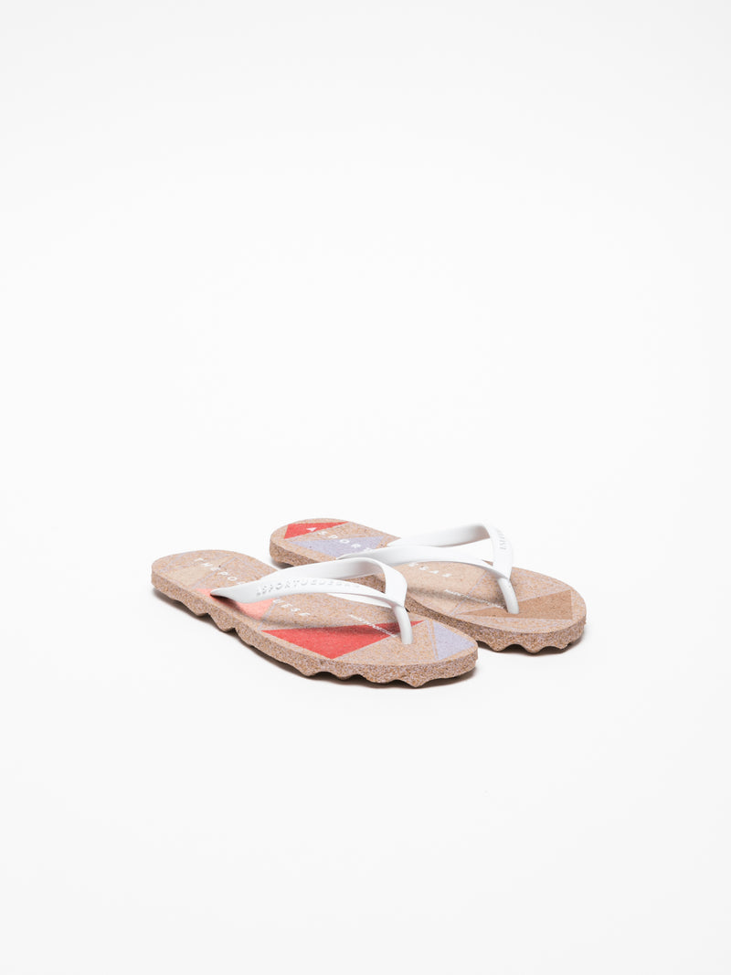 ASPORTUGUESAS Chanclas de Dedo en color Blanco