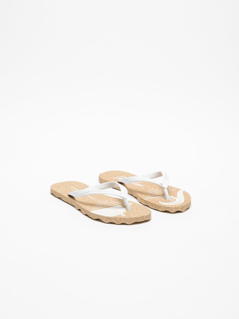 Chanclas de Dedo en color Blanco