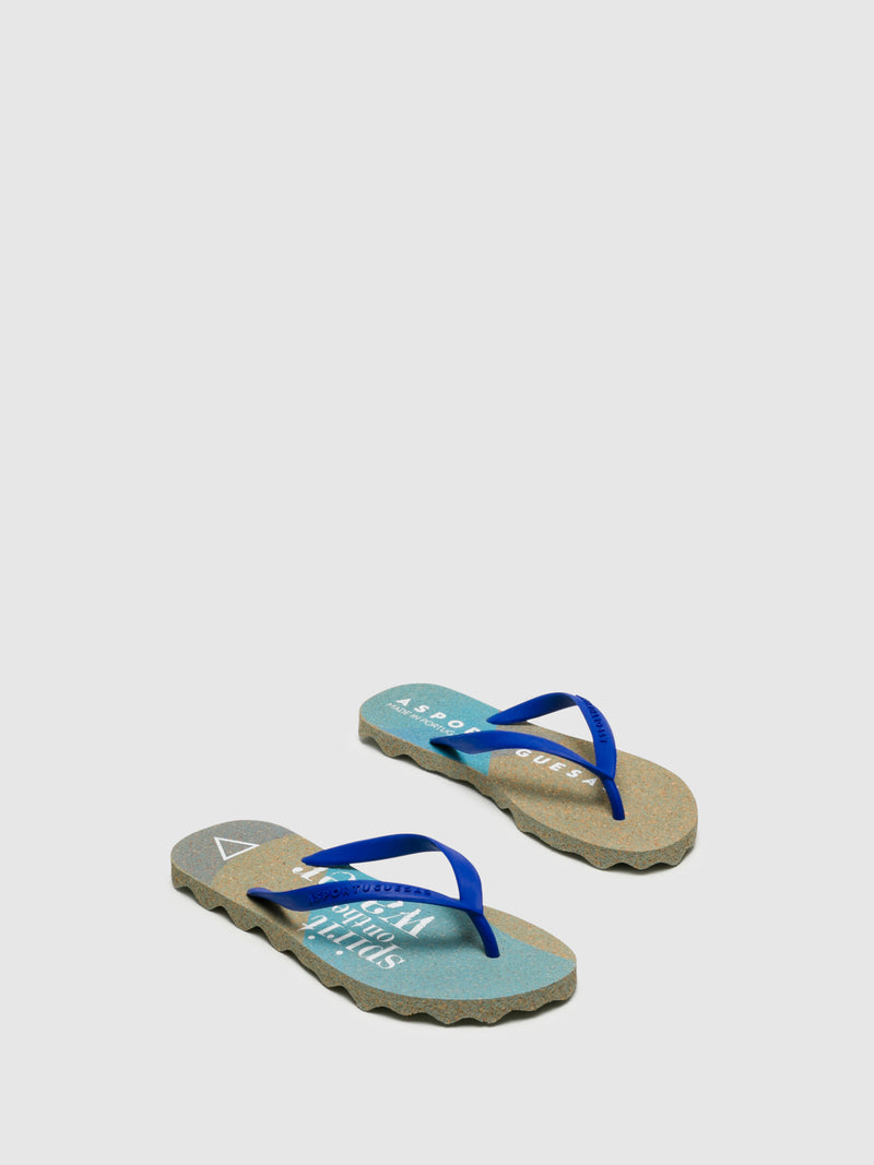Chanclas de Dedo en color Azul