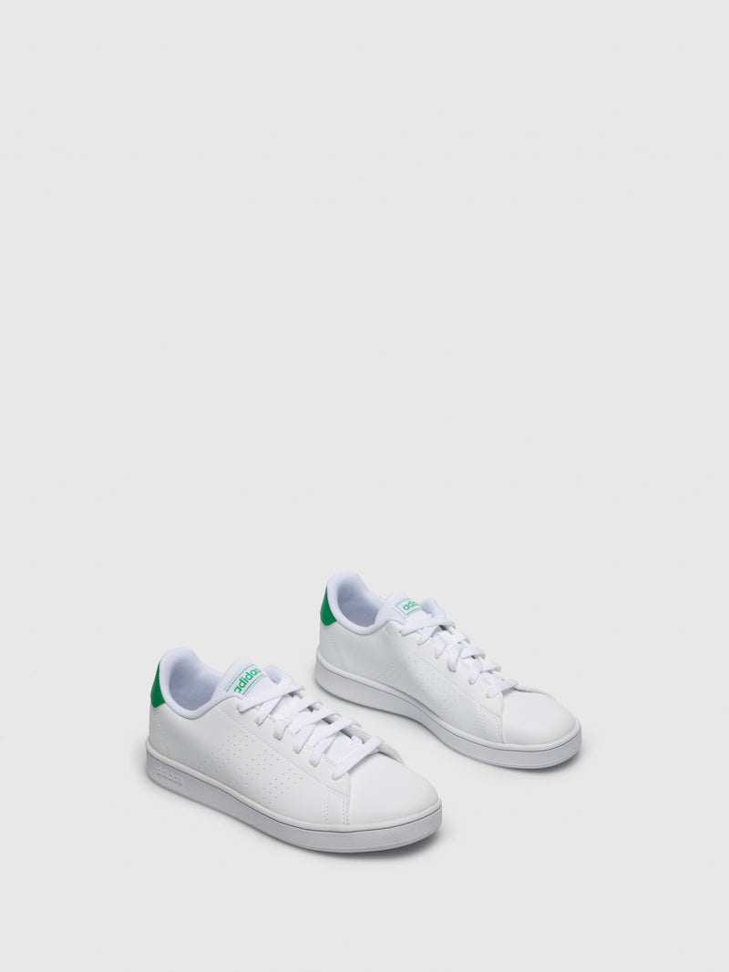 Zapatillas con Cordones en color Verde Blanco