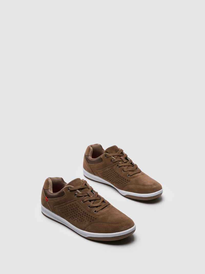 Zapatillas con Cordones en color Camel