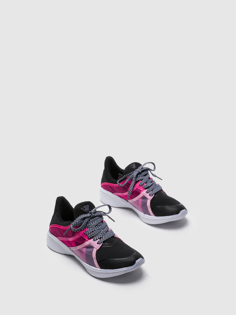 Zapatillas con Cordones en color Rosa Negro