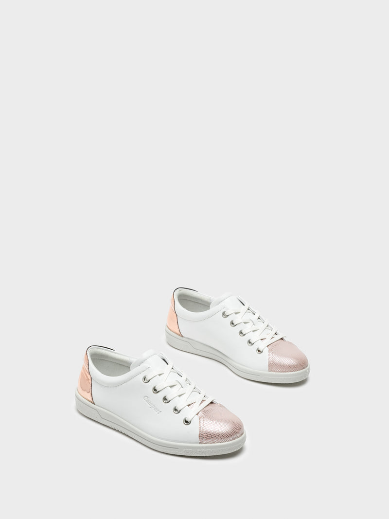 Zapatillas con Cordones en color Rosa Blanco