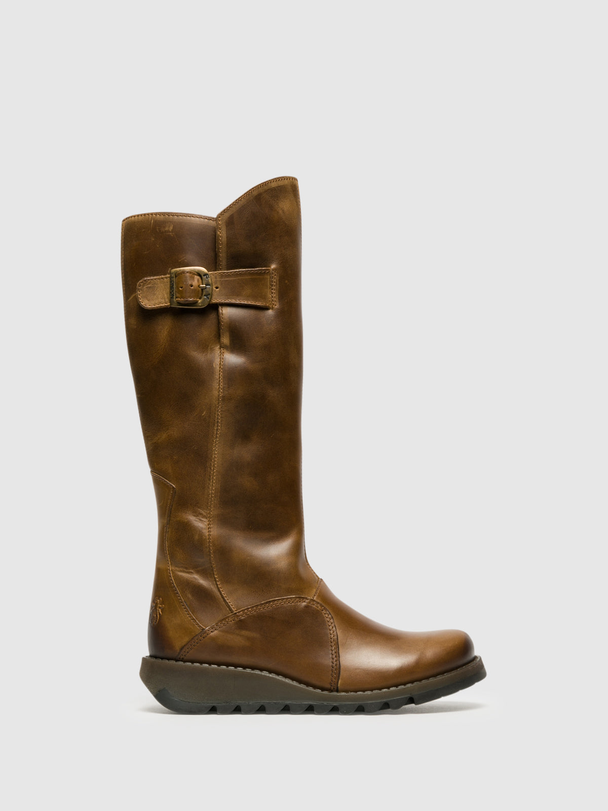 Fly London Botas con Cierre en color Camel