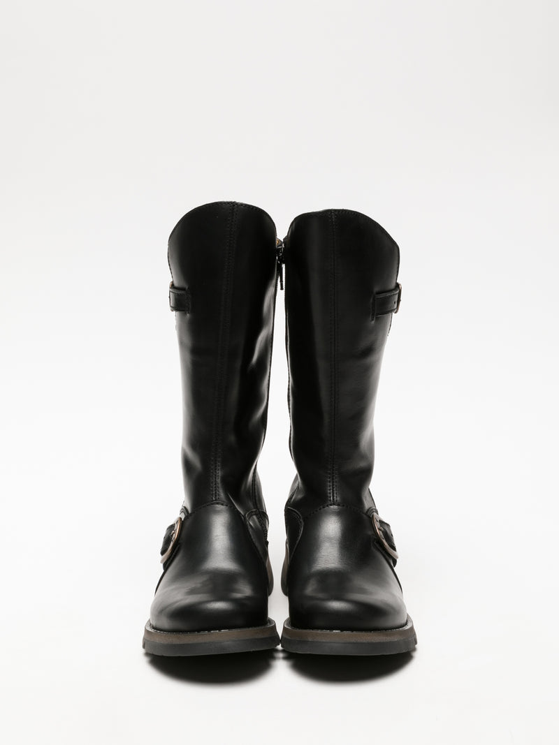 Fly London Botas con Hebilla en color Negro Grafito