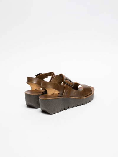 Fly London Sandalias con Hebilla en color Camel