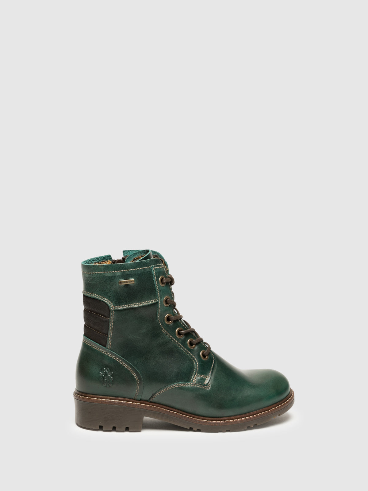 Fly London Botines con Cordones en color Verde Oscuro
