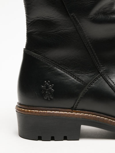 Fly London Botas con Cierre en color Negro