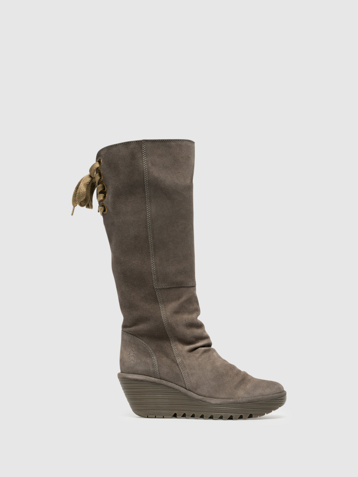 Fly London Botas Altas en color Gris Claro