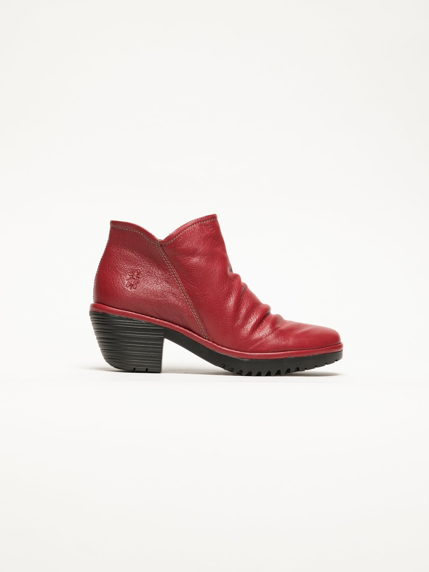 Fly London Botines con Cierre en color Rojo