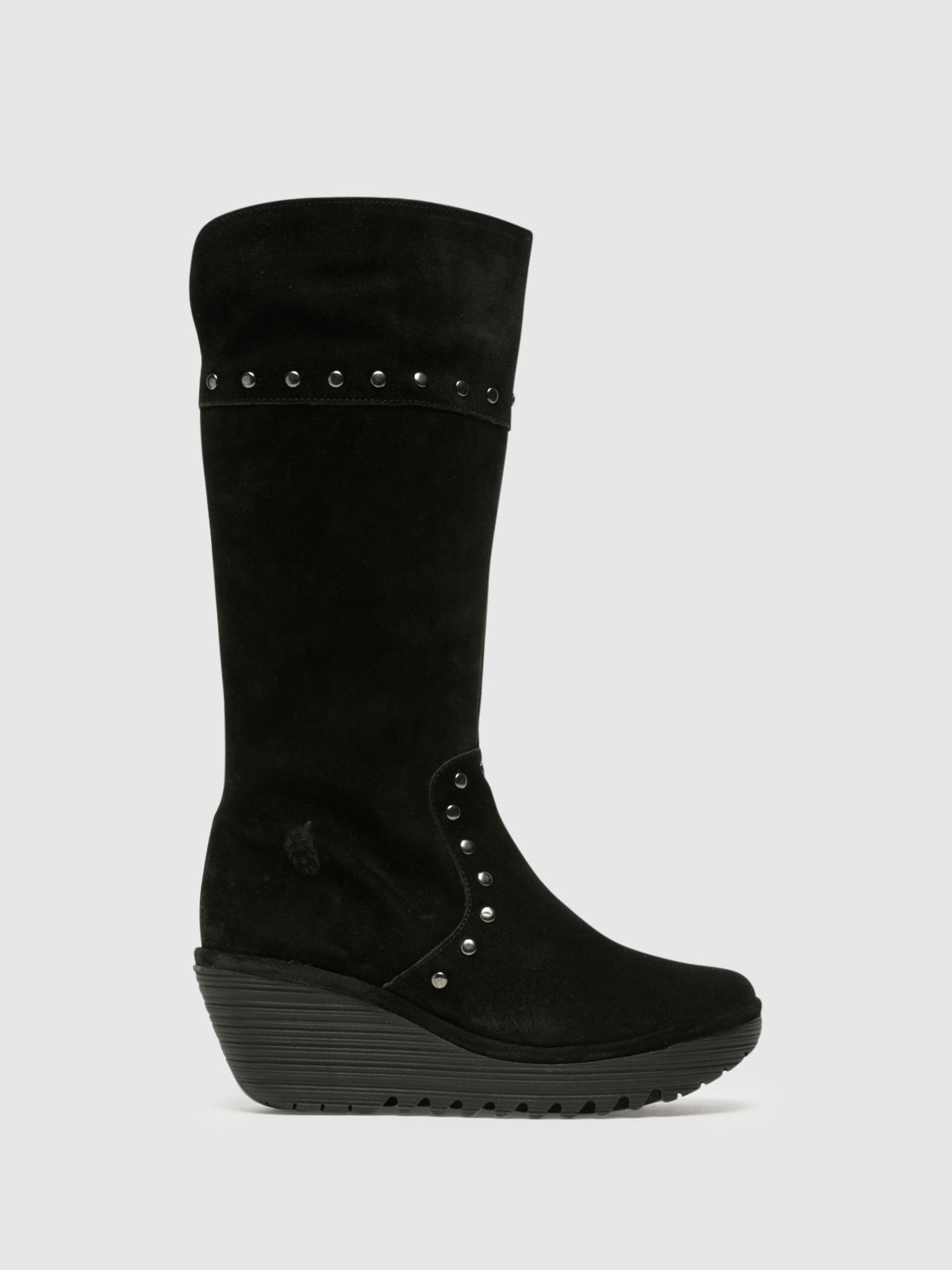 Fly London Botas con Apliques en color Negro