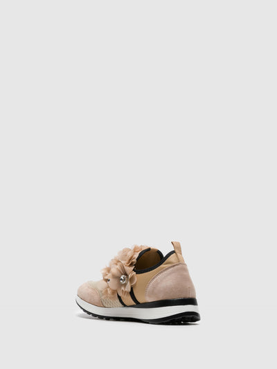 FRANCESCO MILANO Zapatillas con Apliques en color Beige
