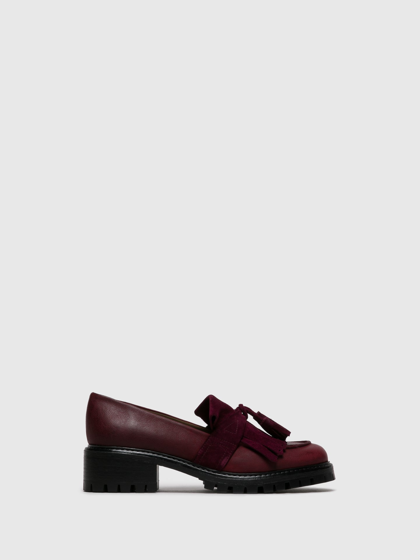 JJ Heitor Zapatos Loafers en color Burdeos
