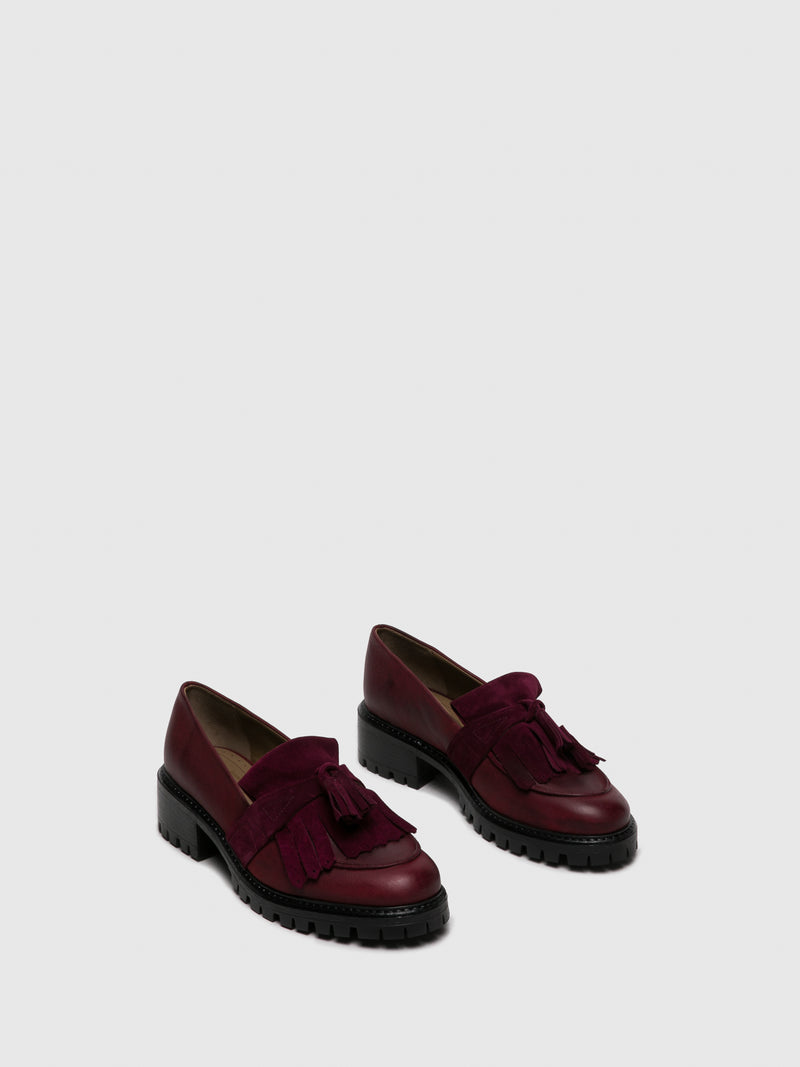 Zapatos Loafers en color Burdeos