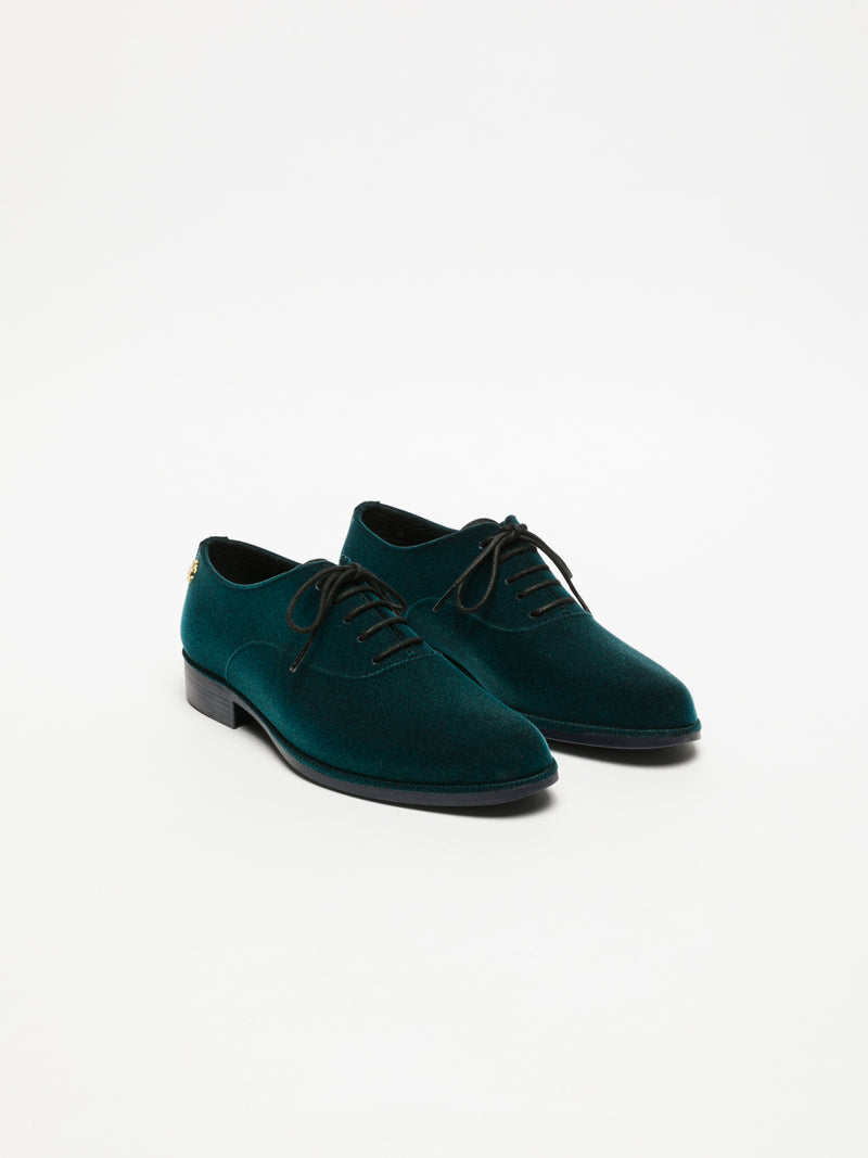 Lemon Jelly Zapatos Oxford en color Verde Oscuro