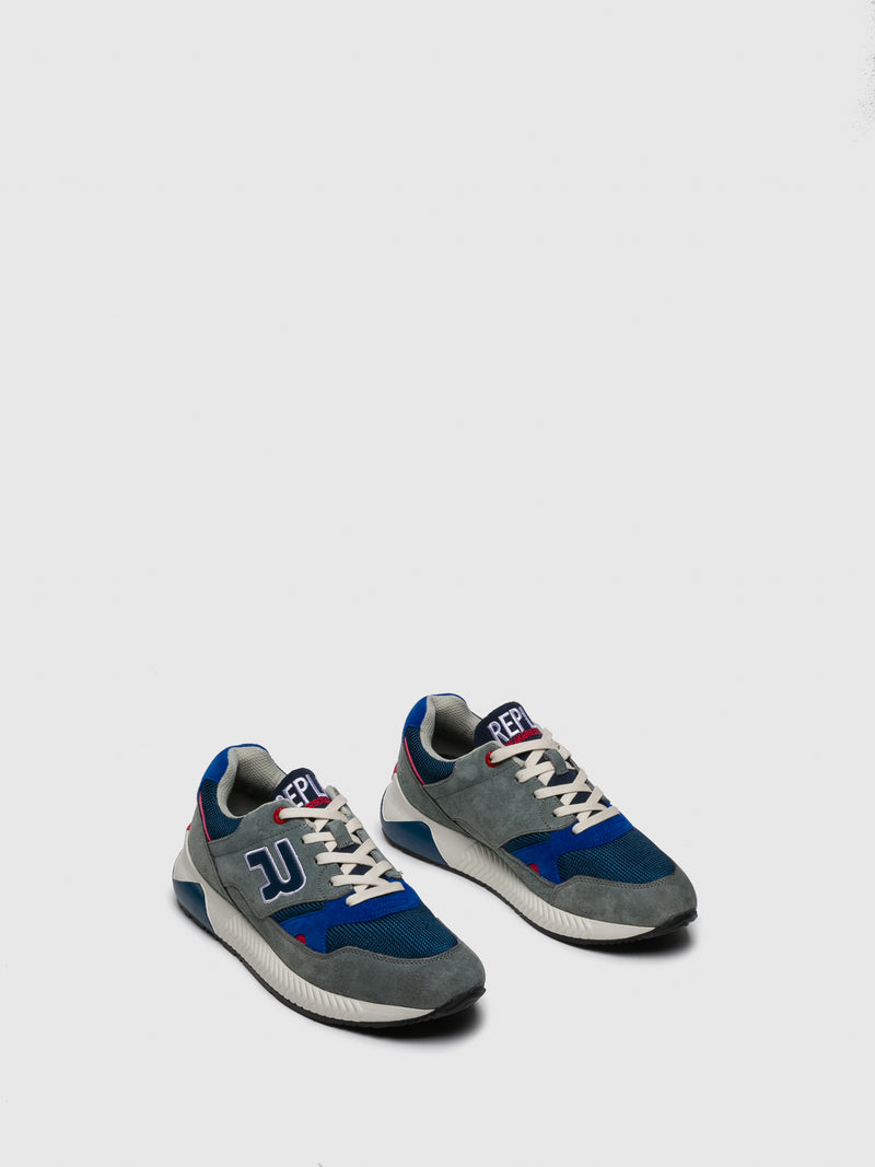 Replay Zapatillas con Cordones en color Azul Gris