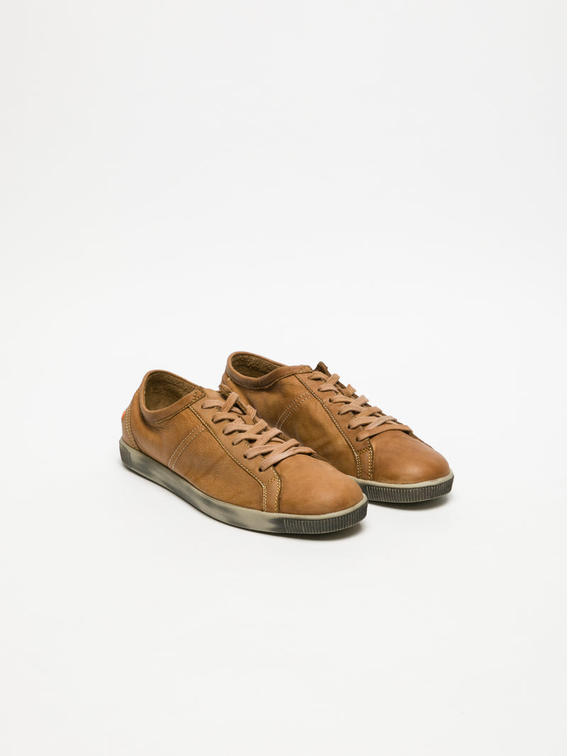 SOFTINOS Zapatillas con Cordones en color Camel