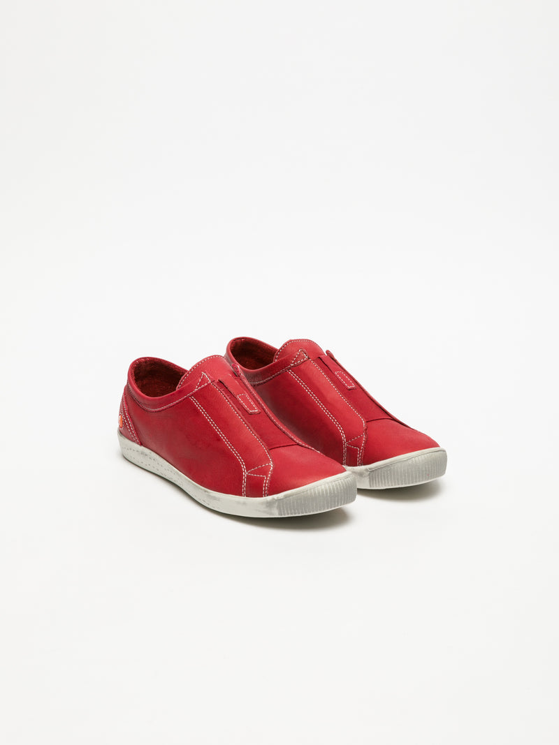 Zapatillas con Estilo Slip-on en color Rojo