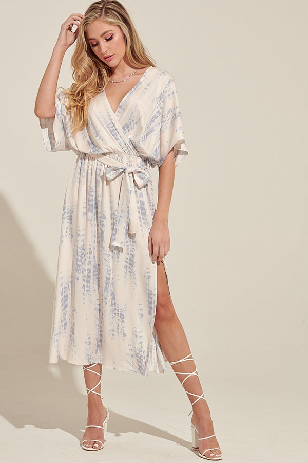 Desert Sunsets Satin Midi Dress