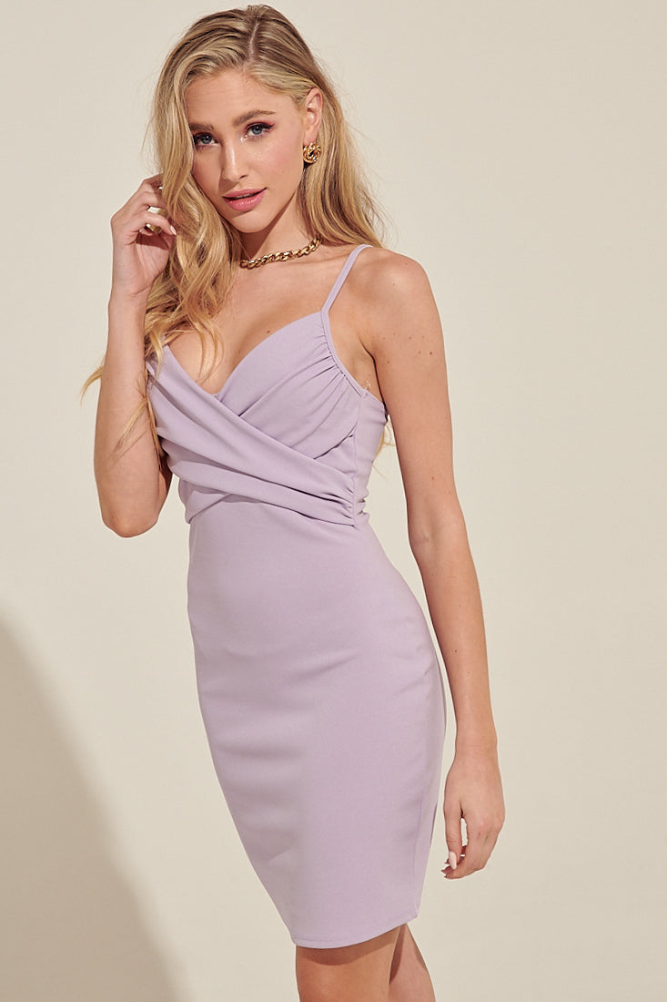 Calling The Shots Lilac Mini Dress