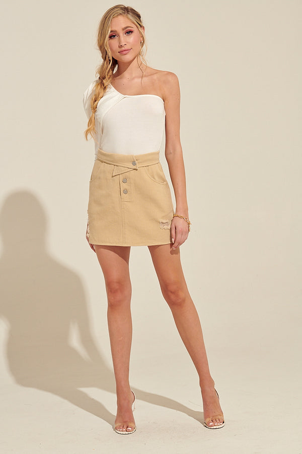 Trendyi Eastside Denim Mini Skirt