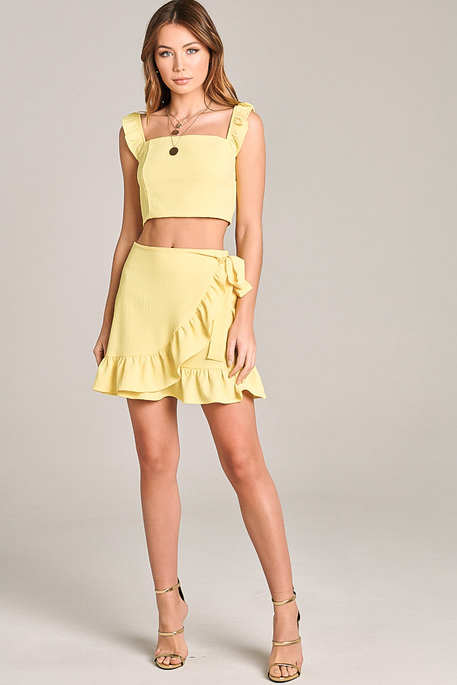 Sunday Brunch Mini Skirt Set