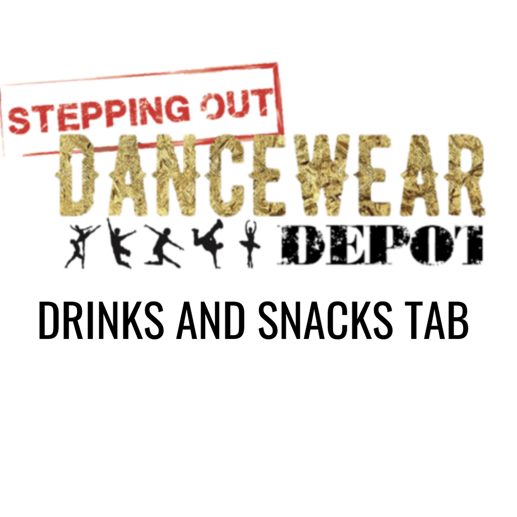 Stepping Out Dancewear Depot Drinks and Snacks TAB
