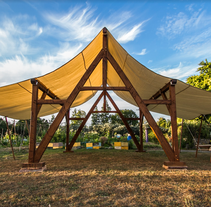 Introducing The Parapara: Traditional Timber Frame Pergola