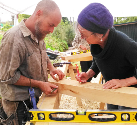 Graeme Scott gives a hands on approach to teaching the craft of timber framing