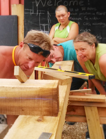 Timber Frame Joinery Course, Takaka