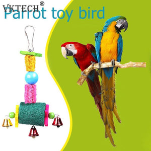 Bird Supplies Bird Toys Bird Toys Bird Parrot Chewing Bite Toy String Hanging Swing Rope Cage Accessories