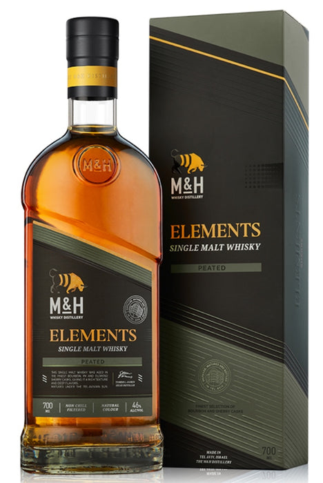 Milk & Honey, Elements, Peated Single Malt Israeli Whisky (700ml)